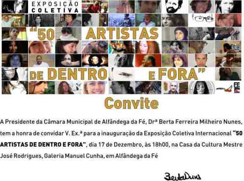 convite 50 ARTISTAS